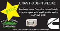 Onan Trade in Special
